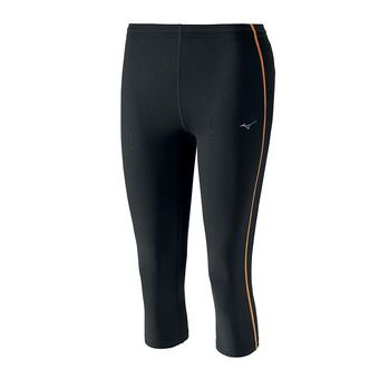 Mallas 3/4 mujer CORE black/orange pop