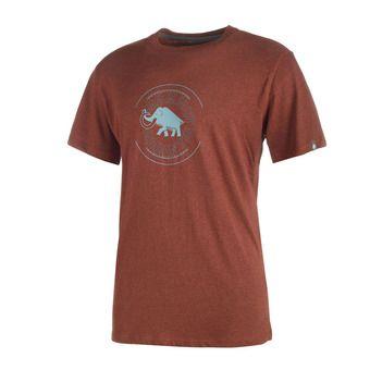 Tee-shirt MC homme GARANTIE maroon melange