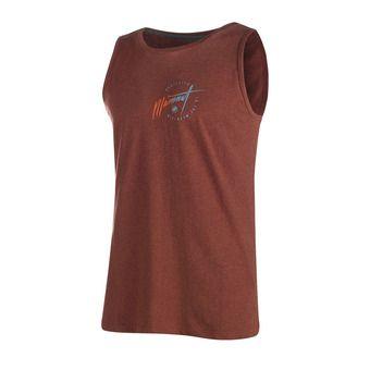Camiseta de tirantes hombre MASSONE maroon melange