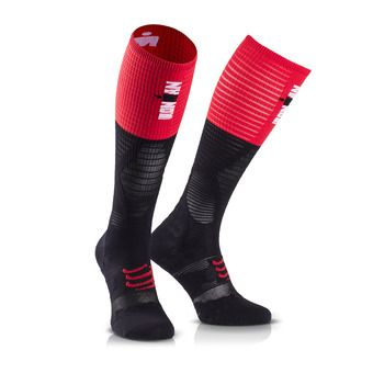 Chaussettes de compression ULTRALIGHT RACING IRONMAN 17 red/black