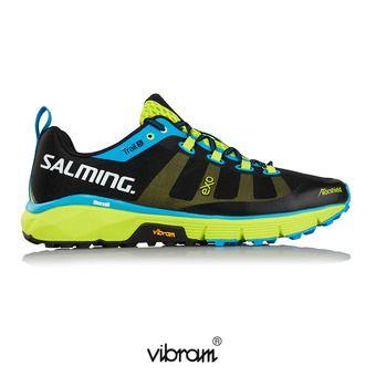 Zapatillas trail hombre TRAIL T5 negro/verde flúor
