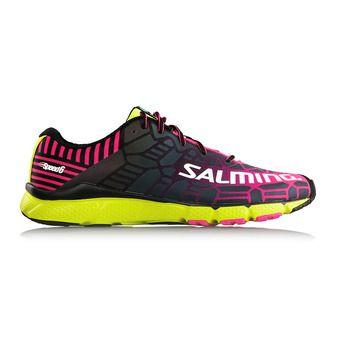 Zapatillas running mujer SPEED 6 flúor/rosa/amarillo
