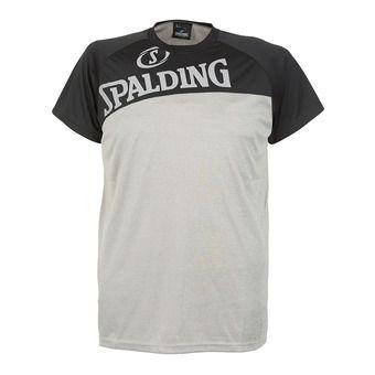 Tee-shirt MC homme STREET gris chiné/noir