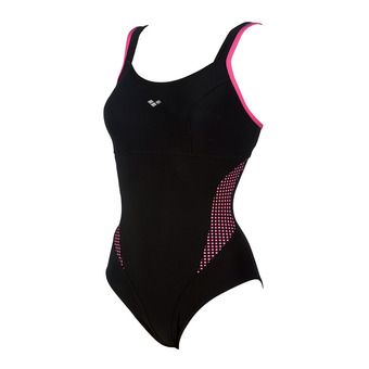 Bañador mujer SOPHIA STRAP BACK black/fluo pink