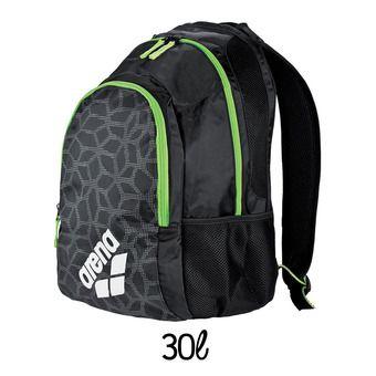 Mochila 30L SPIKY 2 black/fluo green