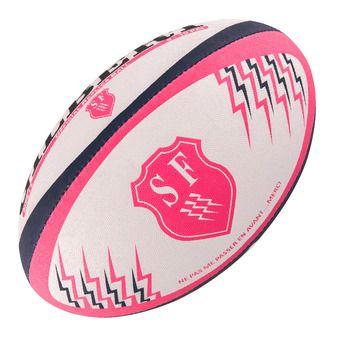 Ballon de rugby STADE FRANCAIS REPLICA rose/bleu