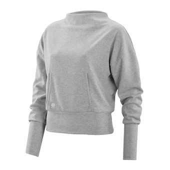 Sweat femme ACTIVEWEAR WIRELESS SPORT silver/marle