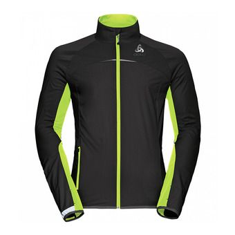 Chaqueta Softshell hombre ZEROWEIGHT 3L black/safety yellow