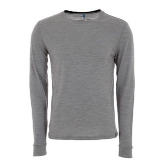Camiseta hombre REVOLUTION WARM grey melange/black