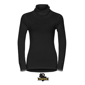 Camiseta mujer REVOLUTION WARM DROIT black/snow white