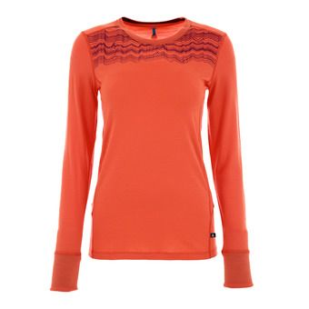 Maillot ML femme NATURAL MERINO hot coral/pickled beet