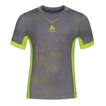 Camiseta hombre SMART CERAMICOOL odlo steel grey/safety yellow