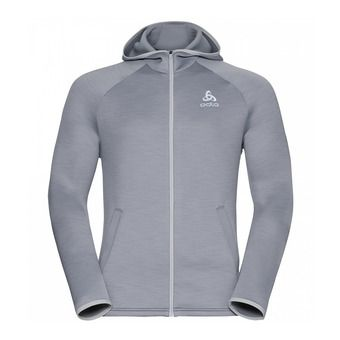 Sweat à capuche homme zippé PULSE grey melange