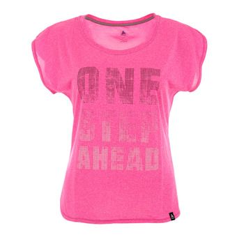 Maillot MC femme HELLE 17 pink glo melange/train print