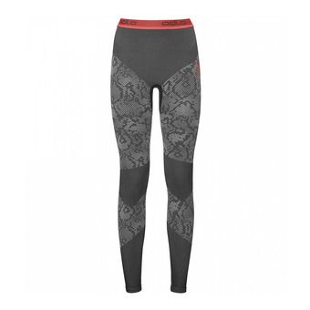 Mallas mujer BLACKCOMB EVOLUTION WARM black/odlo concrete grey/hot coral