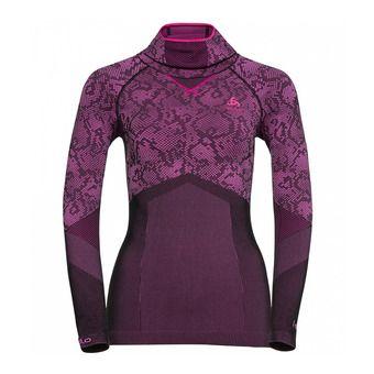 Camiseta térmica mujer BC EVOLUTION WARM black/pink glo