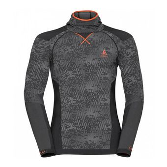 Camiseta térmica hombre BC EVOLUTION WARM black/odlo concrete grey/orangeade