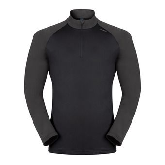 Sweat 1/2 zip homme PAZOLA black/odlo graphite grey