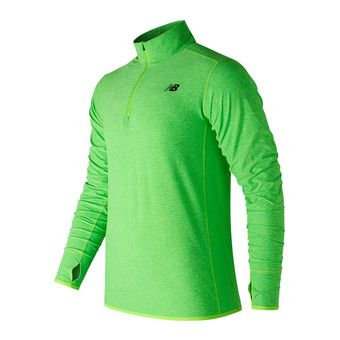 Maillot ML demi-zip homme TRANSIT energy lime
