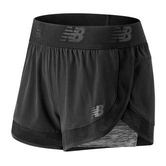 Short 2 en 1 femme MIXED MEDIA black