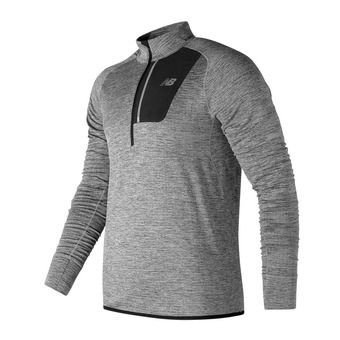 Maillot ML demi-zip homme HEAT athletic grey