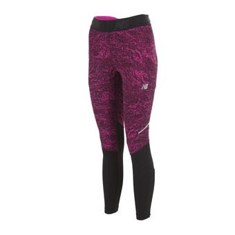Collant femme ACCELERATE poison berry crinkle