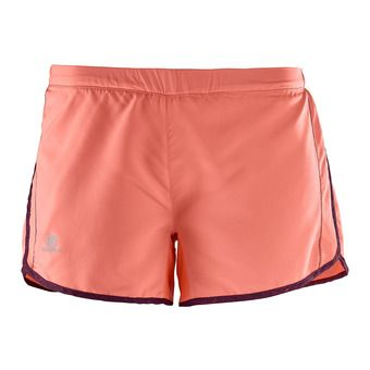 Short mujer AGILE fluo coral/fig