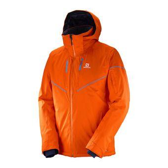 Chaqueta de esquí hombre STORMRACE vivid orange