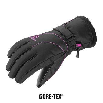 Guantes de esquí mujer FORCE DRY GTX®  black/rose violet