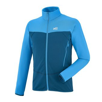 Sweat zippé homme TECHNOSTRETCH electric blue/poseidon