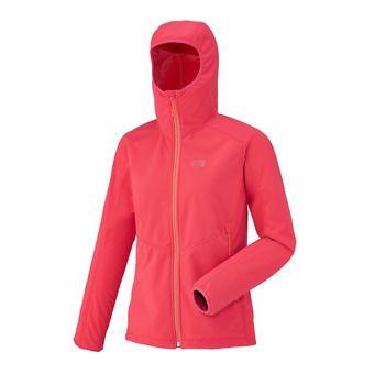 Veste à capuche femme LD SHUKSAN HIGH LOFT hibiscus