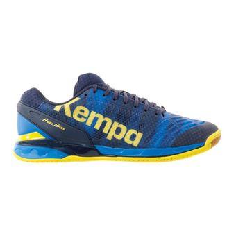 Chaussures handball homme ATTACK ONE bleu profond/jaune citron