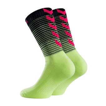 Chaussettes GRADIENT purple/diva pink/black