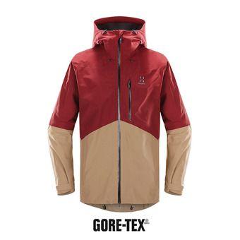 Chaqueta con capucha Gore-Tex® hombre NENGAL dark ruby/oak