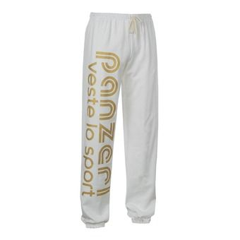 Pantalon jogging UNI H blanc/or