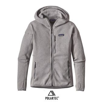 Veste polaire à capuche femme PERFORMANCE BETTER drifter grey