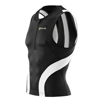 Débardeur de compression 1/2 zip TRI400 black/white