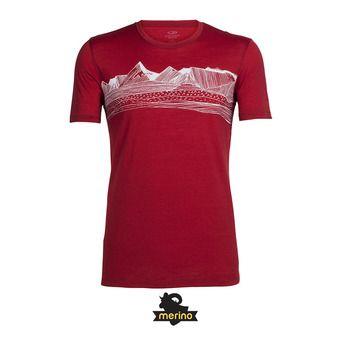 Camiseta hombre TECH LITE PYRENEES oxblood