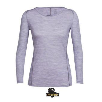 Camiseta mujer AERO silk hthr/eggplant
