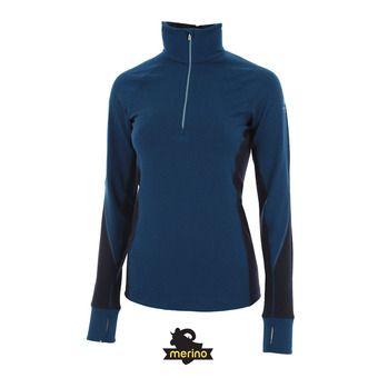 Camiseta térmica mujer WINTER ZONE largo/midnight navy/ice blue
