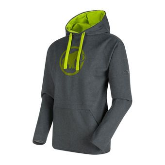 Sudadera hombre MAMMUT LOGO graphite melange/sprout