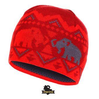 Bonnet MERINO lava/spicy