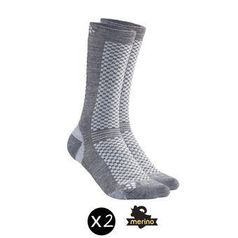 Pack de 2 pares de calcetines WARM granito/plat