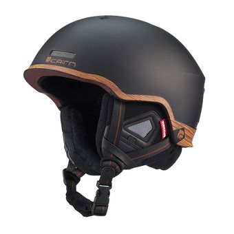 Casque de ski CENTAURE RESCUE mat black wood