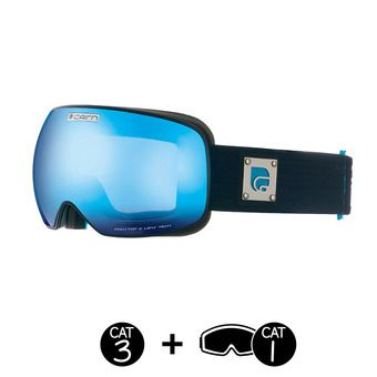 Masque de ski FOCUS OTG mat blue bleu