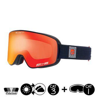 Gafas de esquí polarizadas POLARIS CLX mat black orange