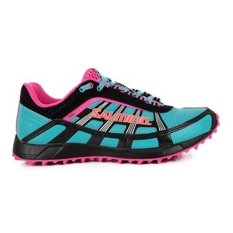 Chaussures running/trail femme TRAIL T2 turquoise/noir
