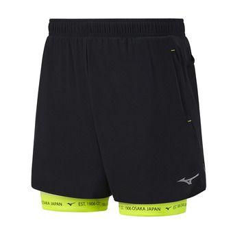 Short 2 en 1 homme MUJIN SQ 7.5 black/safety yellow