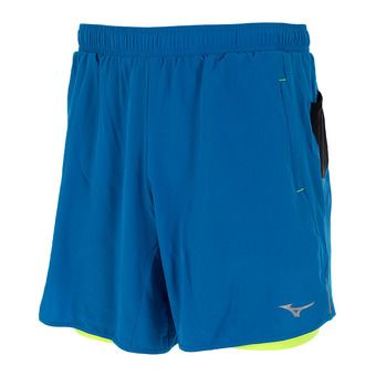 Short 2 en 1 homme MUJIN SQ 7.5 directoire blue/safety yellow