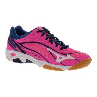 Zapatillas indoor mujer WAVE GHOST pink glo/white/true blue